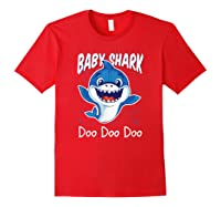 Baby Shark Doo Doo Birthday Party Gifts Girl Boy Out T-shirt Red