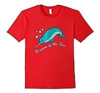 Narwhal Unicorn Of The Sea Fun Cute Shirts Red