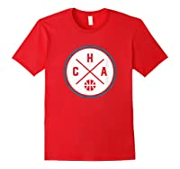 Classic Charlotte Basketball Cha Outline T-shirt Red