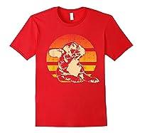 Retro French Bulldog T-shirt Gift Red