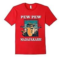 Cat Madafakas Vintage Crazy Cat Funny Graphic Shirts Red