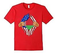 Belarusian Blood Inside Me Belarus Flag Gift Shirts Red