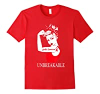 Stroke Survivor Unbreakable Strong Shirts Red