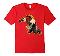 Kane Clothesline Graphic Shirts Red
