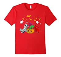 Funny Saurus Halloween Costumes Saurus Lovers Shirts Red