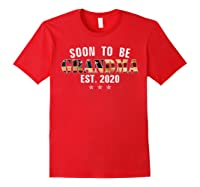 Soon To Be Grandma Est 2020 American Flag For New Dad Gift Shirts Red