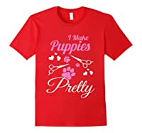 Pet Grooming For Cute Groomer Gift Shirts Red