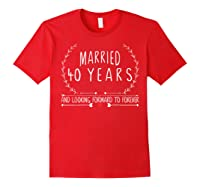 Wedding Anniversary 40th Gifts For Her Him Couples Shirts Red