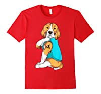 Beagle I Love Mom Apparel, Dog Mom Gifts Shirts Red