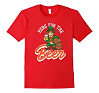 Here For The Beer | Funny St. Patrick\\'s Day Drunk Premium T-shirt Red