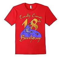 Disney Aladdin Genie Totally Cosmic 18th Birthday T-shirt Red