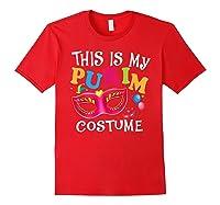 This Is My Purim Costume Jewish Purim Gift Shirts Red