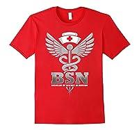 Gift For Bachelor Nurse Nurses Nursing Stay Strong T-shirt Red