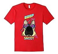 Vaporwave 80's Style Pet Dog Boop That Snoot German Shepherd Shirts Red