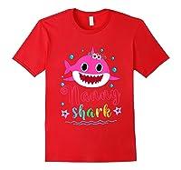 Nanny Shark Doo Doo Doo Shirt Matching Family Shark T-shirt Red