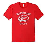 New Zealand Rugby Maori Rugby Kiwi Fern Shirts Red
