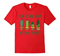 Team Second Grade Funny Cactus Plant School Gift Tshirt Red