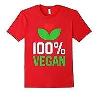 Proud 100 Vegan Vegetarian Vegetables Plant Lover Heart Shirts Red