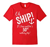 Ernie And Debs Birthday Cruise Shirts Red