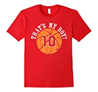 Unique That\\\'s My Boy #10 Basketball Player Mom Or Dad Gifts T-shirt Red