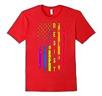 Pride Lgbt Colorful Flag Rainbow Shirts Red