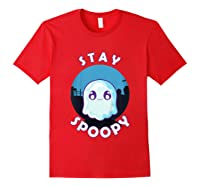 Stay Spoopy Cute Funny Halloween Shirts Red