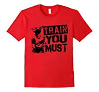Star Wars Yoda Train You Must Active Graphic T-shirt Red