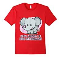 Safari For Your Opinion Is Irr Elephant Shirts Red