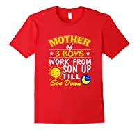 Mother's Day Mother Of 3 Shirts Red
