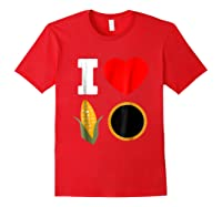 Cornhole Shirts For And . I Love Cornhole Tee Red