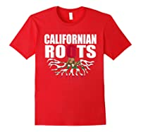 Storecastle Californian Roots California Pride Gift Shirts Red