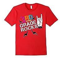 3rd Grade Rocks, 1st Day Of School Shirt Students Teas Red