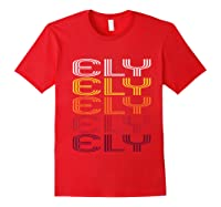 Ely, Nv Vintage Style Nevada Shirts Red