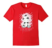 12th Birthday Princess Girl 12 Years Old Cow Lover B Day Shirts Red