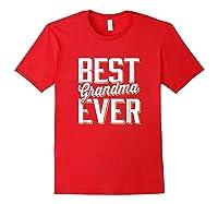 Best Grandma Ever Shirts Red