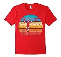 Vintage Basketball Retro Vintage Style Basketball Gift Shirts Red