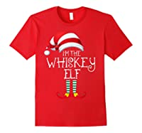 I'm The Whiskey Elf Family Matching Christmas Gift Group Shirts Red