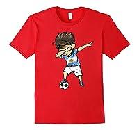 Dabbing Soccer Argentina - Argentinian Football Premium T-shirt Red