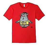 Nature Cat Houston Character T-shirt T-shirt Red