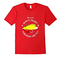 The Way To A Man's Heart Is Through His Fly Fishing Shirts Red