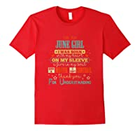 June Girl Funny Birthday Vintage Gifts T-shirt Red