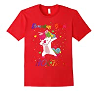 Eletary School Rocks Dabbing Unicorn Back To School Gifts T-shirt Red