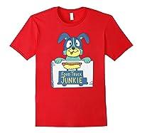 Food Truck Junkie Funny Cartoon Dog Shirts Red