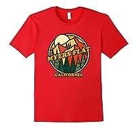 Vintage Myers Flat California Mountain Hiking Souvenir Print T-shirt Red