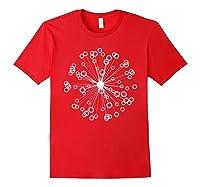 Mod Art Bursting Balls T-shirt Red