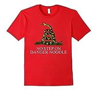 No Step On Danger Noodle T-shirt Red