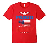 Proud Army American Soldier Air Flag Honor Gift T-shirt Red