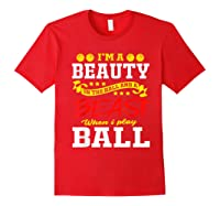 A Beauty In The Hall Funny T Shirt For Basketball Players Red