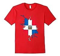 Dominican Republic Flag Inside Dominicana Republica Pride Shirts Red