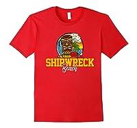 Shipwreck Beach Shirts Red